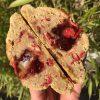 vegan peanut butter jelly cookie